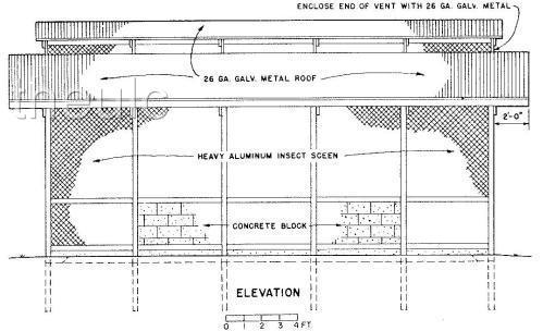 Smoke house plans.Top and