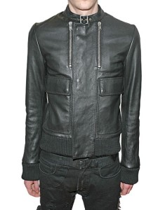 HOMME-leather-jacket-XL-vintage-FREE-SHIPPING-D-0R-vtg
