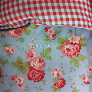 ikea rosali n bedding set duvet cover p cases roses shabby chic check gingham. Black Bedroom Furniture Sets. Home Design Ideas