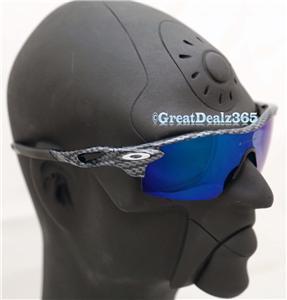 oakley carbon jupiter polarized  carbon fiber deep blue