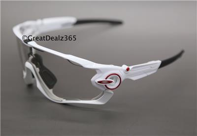 custom oakley goggles 2cdh  RARE CUSTOM OAKLEY JAWBREAKER POLISHED WHITE, CLEAR to BLACK IRIDIUM  PHOTOCHROMIC