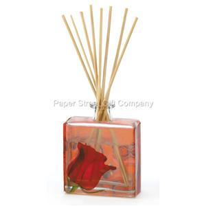 Square glass bottle decorative rose scented 3 oz for Decorative diffuser