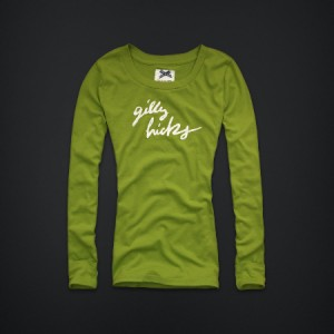 Gilly Hicks by Abercrombie Womens Long Sleeve T Shirt Green Blue S, L