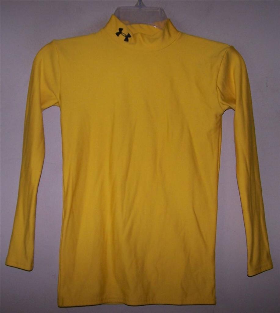 Youth boy 39 s under armour long sleeve coldgear compression for Yellow under armour long sleeve shirt