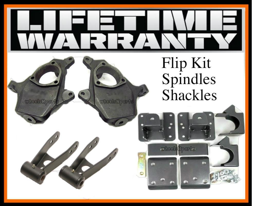Chevy GMC 2 4 Drop Kit Spindles Flipkit lowering Suspension Flip