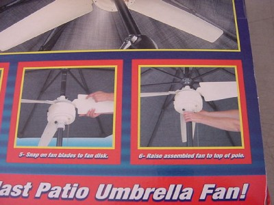 "Item specifics - Summer Blast Patio Umbrella Fan 48"" Battery Operated EBay"