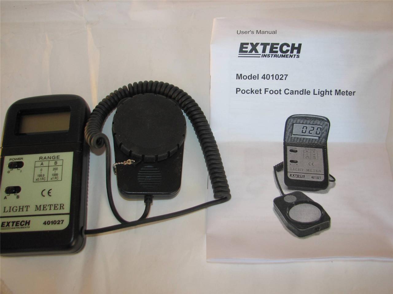 about extech instruments foot candle light meter 401027 light meter. Black Bedroom Furniture Sets. Home Design Ideas