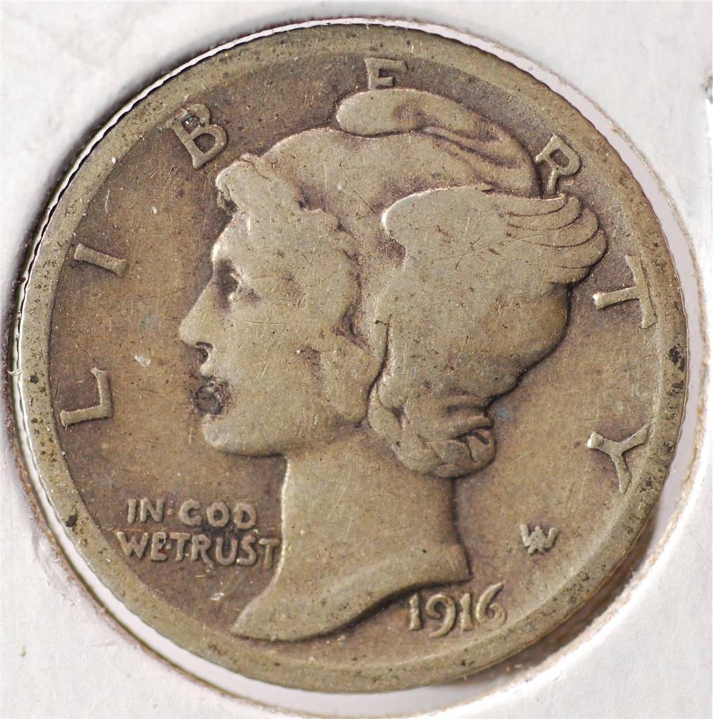 1916 Liberty Mercury Dime Mera45 Ebay