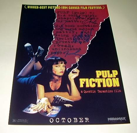 pulp fiction cast x7 pp signed poster 12x8 tarantino n2 ebay
