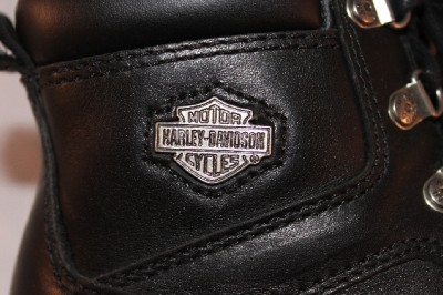 HARLEY DAVIDSON womens BLACK leather RIDING BOOTS express lane 6M