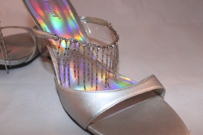 Silver Prom Shoes on Prom Shoes Silver Rhinestone Pumps Seventeen Sz 8m   Ebay