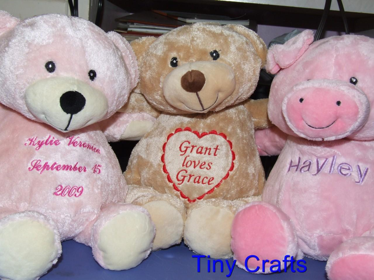 Personalized Stuffed Animal Baby Christening Graduation 18 Animal Choices in Baby, Keepsakes & Baby Announcements, Other | eBay