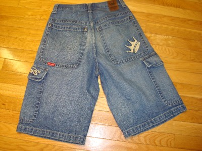 Menu0026#39;s JNCO JEANS Shorts Size 29 embroidered crown cargo pockets | eBay