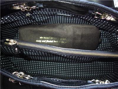 Kate Spade Black Quilted Elena Marivaux Noel Chain Tote Bag Purse $345