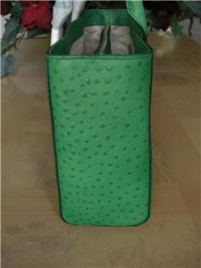KATE SPADE NWT FRESH GREEN LEATHER OSTRICH QUINN PORTOLA VALLEY TOTE