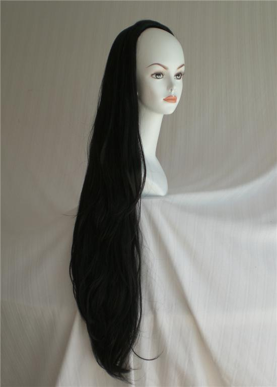 Super-Long-Straight-3-4-cap-Fall-Extension-Hairpiece-Black-Dark-Light-Brown-Red