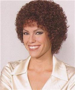 Details about Dark Auburn Short Wig w/ Medium Tight Curls - Sandra