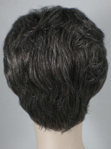 Gray Salt Pepper Short Curly Wig Crystal Wigs | LONG HAIRSTYLES