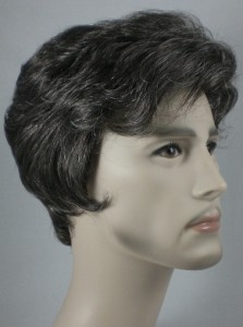 Details about Gray, Salt & Pepper Short Wavy/Straight Mens Wig Wigs