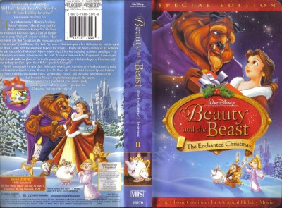 vhs disney beauty n the beast enchanted christmas