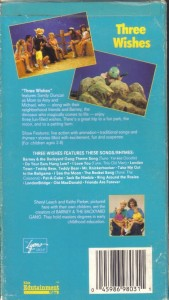 vhs barney backyard gang three wishes sandy duncan ebay