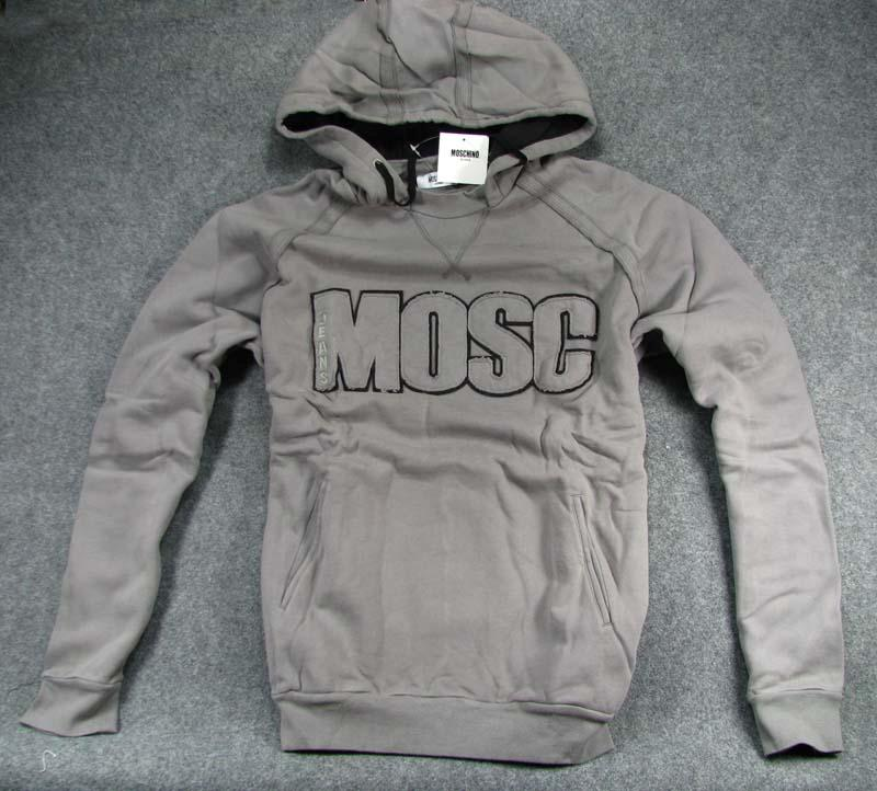 New-Moschino-Men-039-s-Hoodies-Sweaters-Sz-M-XL-Grey
