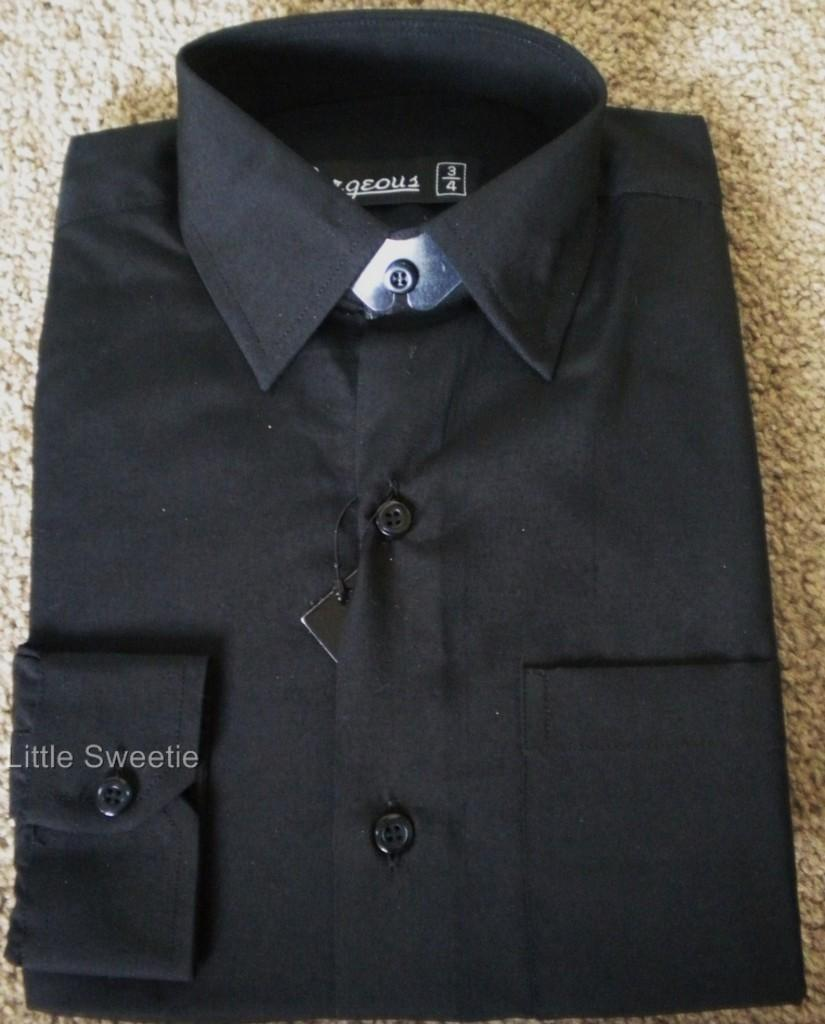 NEW-Boys-Black-Formal-Occasion-Shirt-0-6m-1-2-3-4-5-6-7-8-9-10-11-12-Years