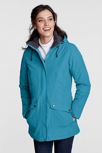 Lands' End Women's Squall Parka is constructed well with impressive details to protect against the elements.
