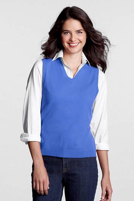 Lands end sweater vest cashmere sweater england for Lands end logo shirts