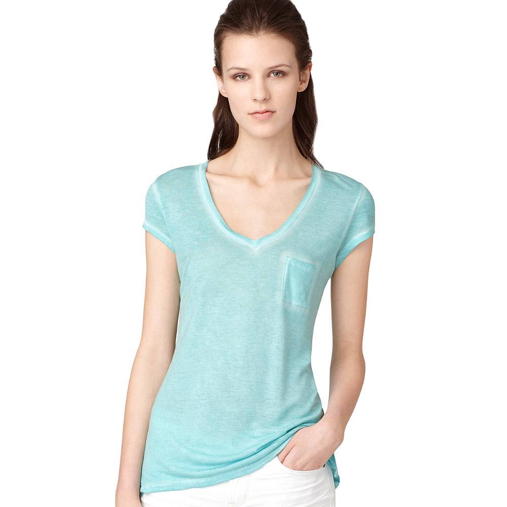 calvin klein v neck pocket t shirt women 39 s s l 30 nwt ebay. Black Bedroom Furniture Sets. Home Design Ideas