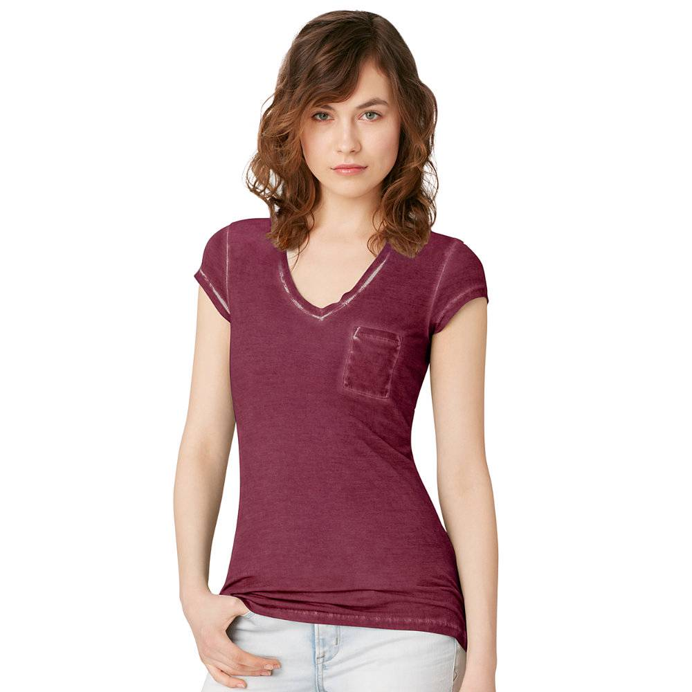 Calvin klein v neck pocket t shirt women 39 s s l 30 nwt for Pocket tee shirts for womens