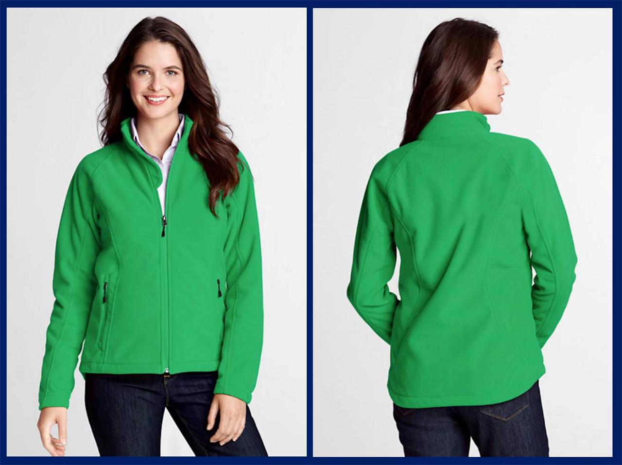 Lands' End- Women's Marinac Soft Shell Fleece Jacket $70 NIP