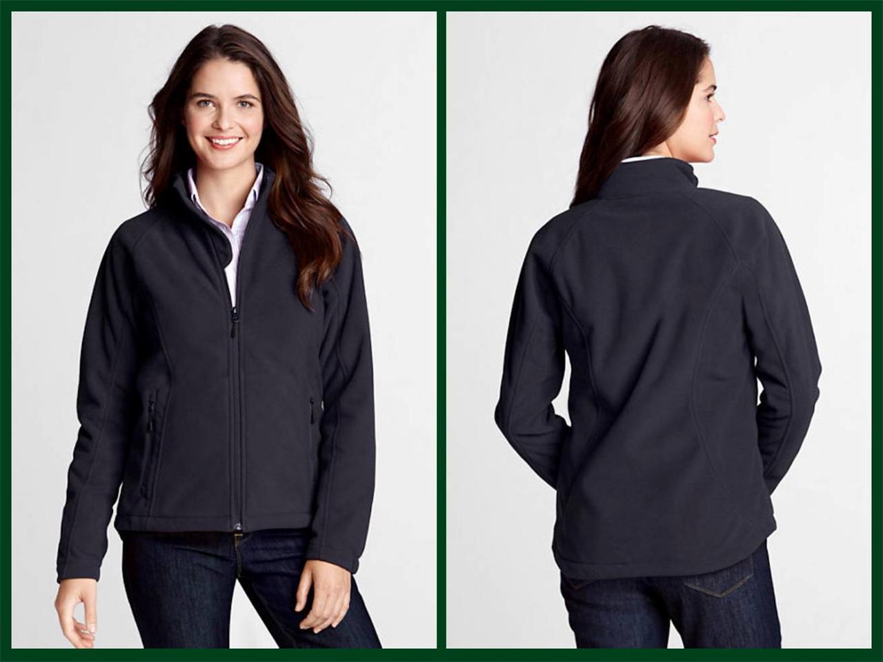 Lands' End- Women's Marinac Soft Shell Fleece Jacket $70 NIP