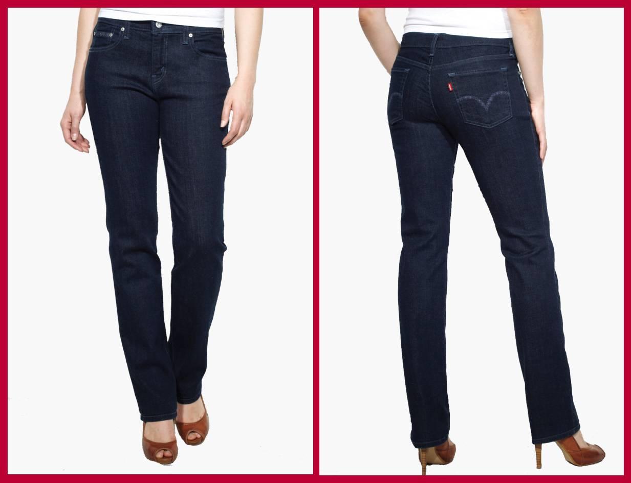 Womens Levi 505 Straight Leg Jeans