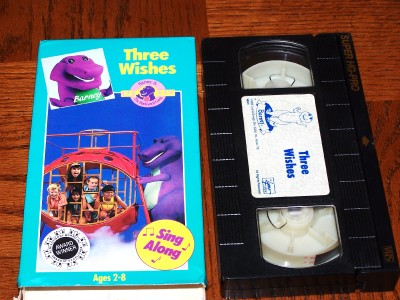rare barney three wishes vhs video sandy duncan mint89