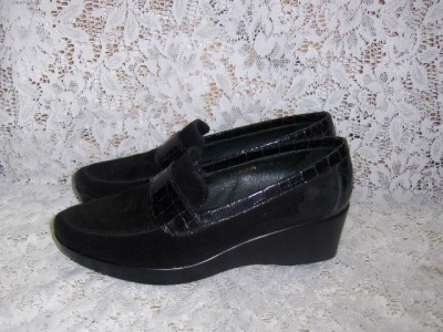 Womens Black Wedge Shoes Images