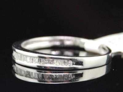 LADIES WHITE GOLD DIAMOND WEDDING ENGAGEMENT BAND RING