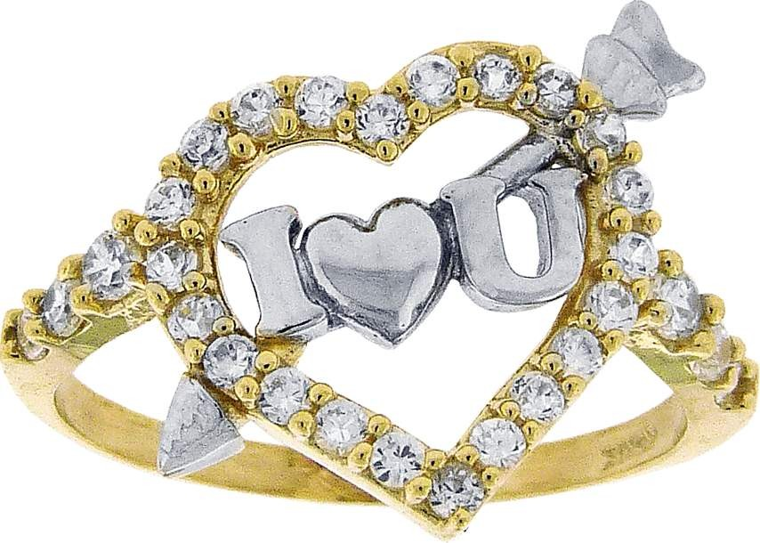 LADIES-10K-YELLOW-GOLD-CZ-I-LOVE-YOU-HEART-FASHION-RING