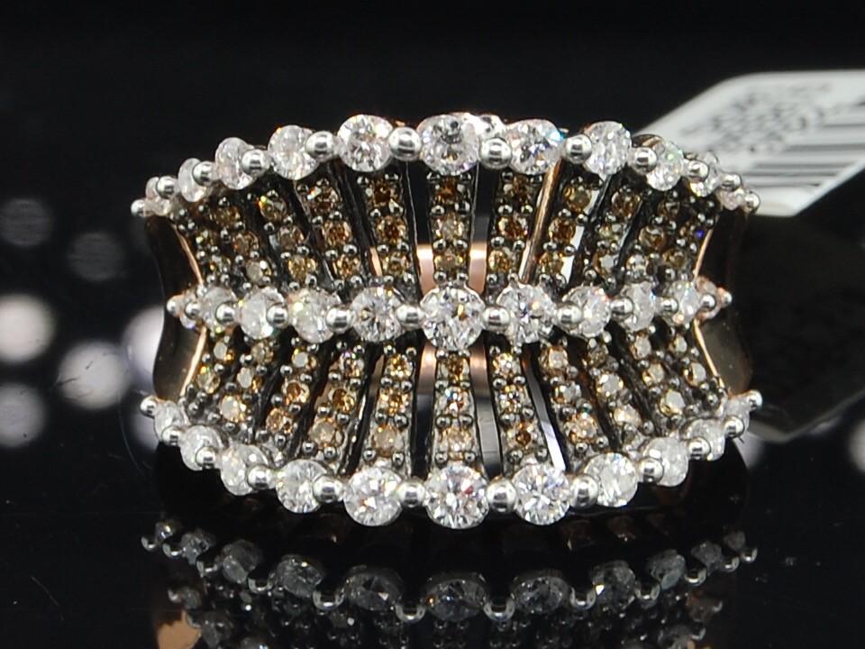 PINK GOLD CHOCOLATE BROWN DIAMOND ENGAGEMENT WEDDING RING BAND