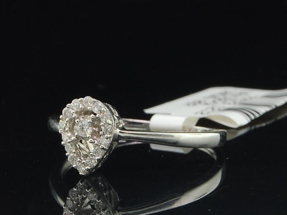 La s 10K White Gold Teardrop Round Diamond Engagement Ring Bridal Set 0 12