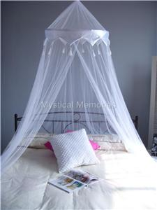 WHITE-CROWN-Mosquito-Net-Bed-Canopy-QUEEN-SIZE-NEW