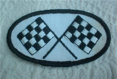 Auto Racing Uniform Patches on Vintage Racing Flags Race Car Auto Embroidered Patch   Ebay
