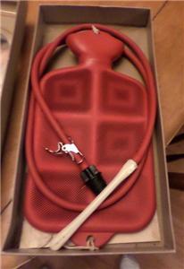 Vintage davol paris fountain syringe rubber hot water bottle douche enema ebay - Douche autobronzante paris 15 ...