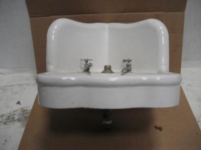 Antique Corner Sink : Details about Antique Cast Iron Corner Sink Bathroom Serpentine Front