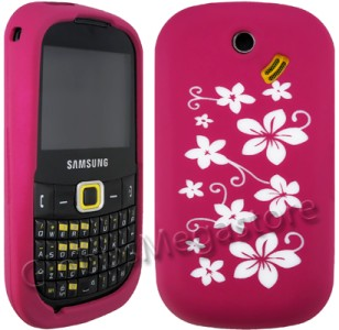 PiNK FLOR SiLiCON CASE COVER SAMSUNG B3210 GENiO QWERTY