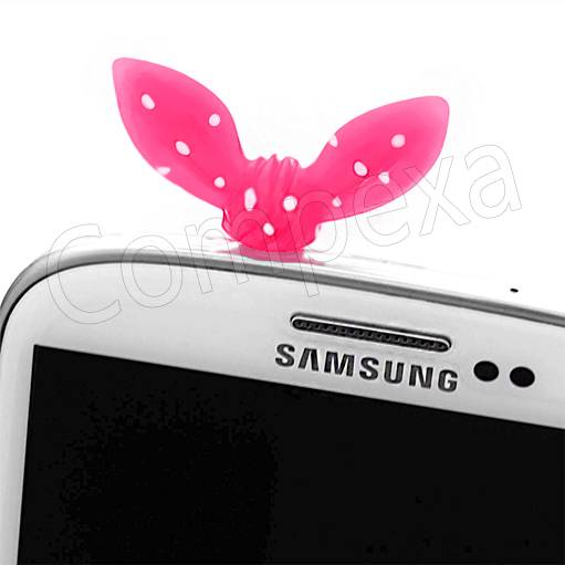 BowKnot Butterfly Anti dust Ear Phone Cap Case Cover Plug For SMI 7500 n Various