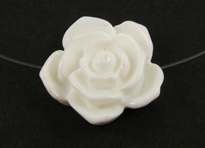 5-FUCHSIA-PINK-RESIN-ROSE-FLOWER-BEADS-20mm