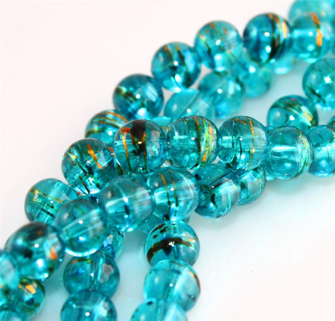 COLOUR CHOICE TOP QUALITY DRIZZLE DRAWBENCH GLASS BEADS choose 4mm 6mm 8mm 10mm