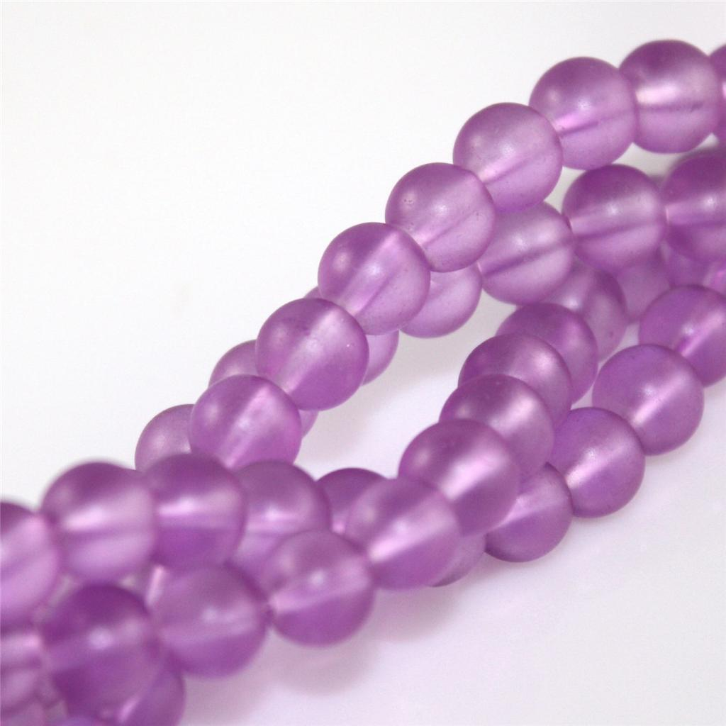20 COLOUR CHOICE TOP QUALITY CRYSTAL FROSTED GLASS BEADS 4mm 6mm 8mm
