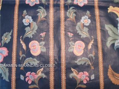7 Yds Shaw Hall Stripe Waverly Upholstery Drapery Fabric